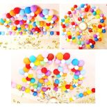 100pcs Party Balloons Assorted Colors with Hand Held Air Inflator Ribbon Balloon Accessories Thicker Latex Balloons 2