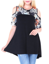 2018-06-15 00_42_14-DANVOUY Womens Summer Cold Shoulder Casual Short Sleeve Floral Print Blouse Tops