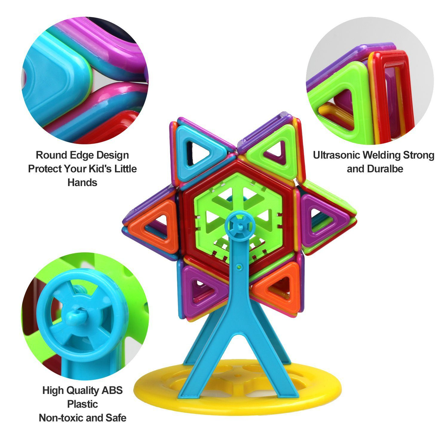 95 Pieces Magnetic Stacking Blocks 2