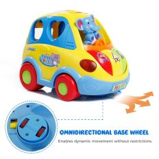 Auto-Sensing Happy Elephant Educational Musical Car Toy with Transforming Animal Block Shapes and Various Sounds 6