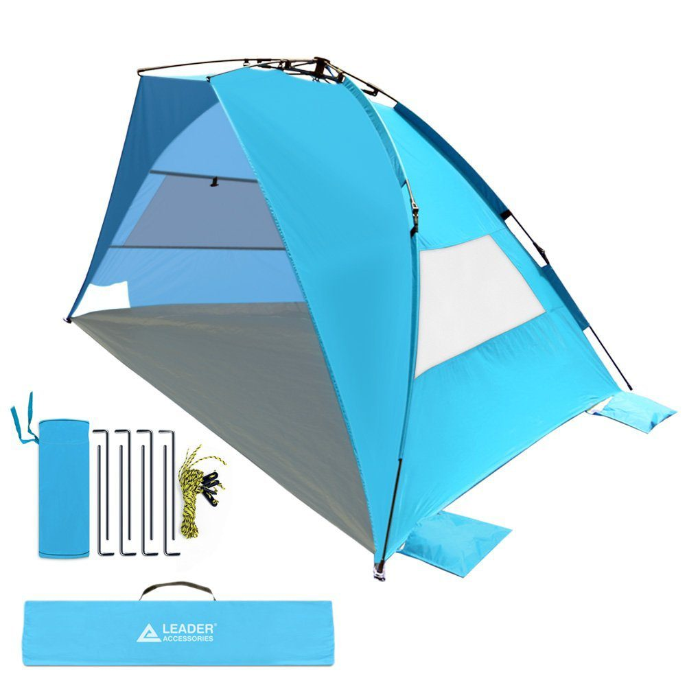 EasyUp Beach Tent Quick Cabana Sun Shelter Family Use,Sets up in Seconds 5
