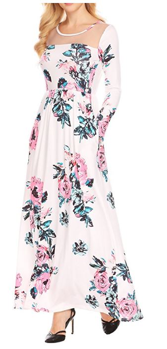 Women's-Boho-Floral-Long-Sleeve-Mes-Patchwork-Casual-Maxi-Dress-With-Pocket