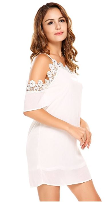 women-spaghetti-strap-short-sleeve-cold-shoulder-lace-floral-patchwork-sexy-midi-dress 3
