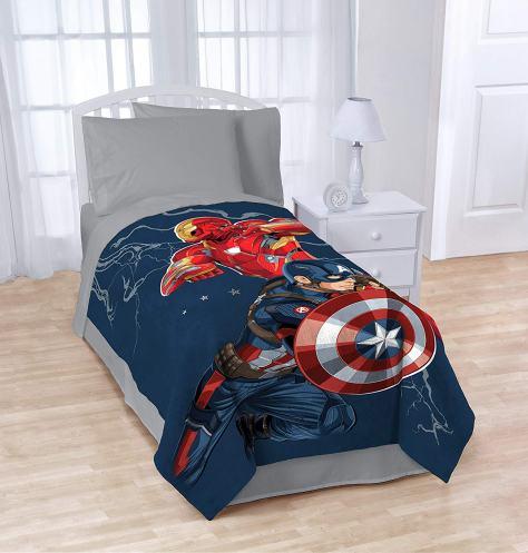 Captain America Civil War Twin Blanket 1