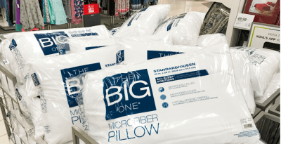 Kohl's: The Big One Microfiber Pillow for JUST $2.45 (Regularly $10) + FREE Shipping