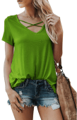 2018-09-16 14_01_40-Karlywindow Womens Criss Cross T-Shirts Summer Casual Short Sleeve Front V-Neck
