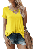 2018-09-16 14_01_52-Karlywindow Womens Criss Cross T-Shirts Summer Casual Short Sleeve Front V-Neck