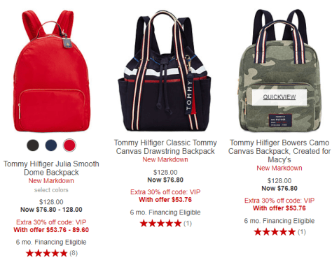 786ca8149100d6 Backpacks 2018-09-19 10_34_44-Backpack Tommy Hilfiger Purses & Handbags -  Macy's