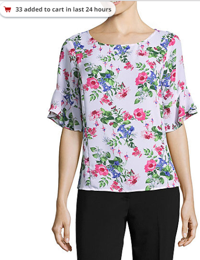 2018-09-20 21_34_34-Liz Claiborne 3_4 Sleeve Round Neck Woven Floral Blouse - Tall - JCPenney.png