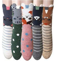 5 Pack Women Animal socks