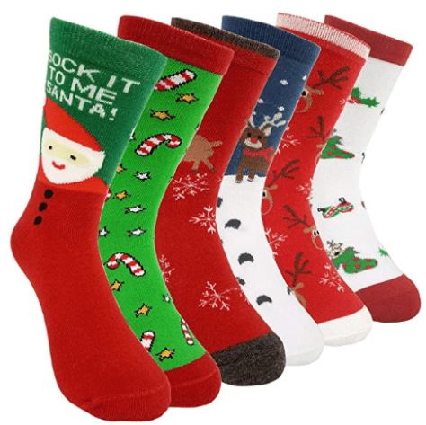 6 Pairs Women's Christmas Holiday Casual Socks