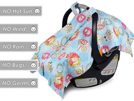 Baby Carseat Canopy And Nursing Cover 2 In 1 B