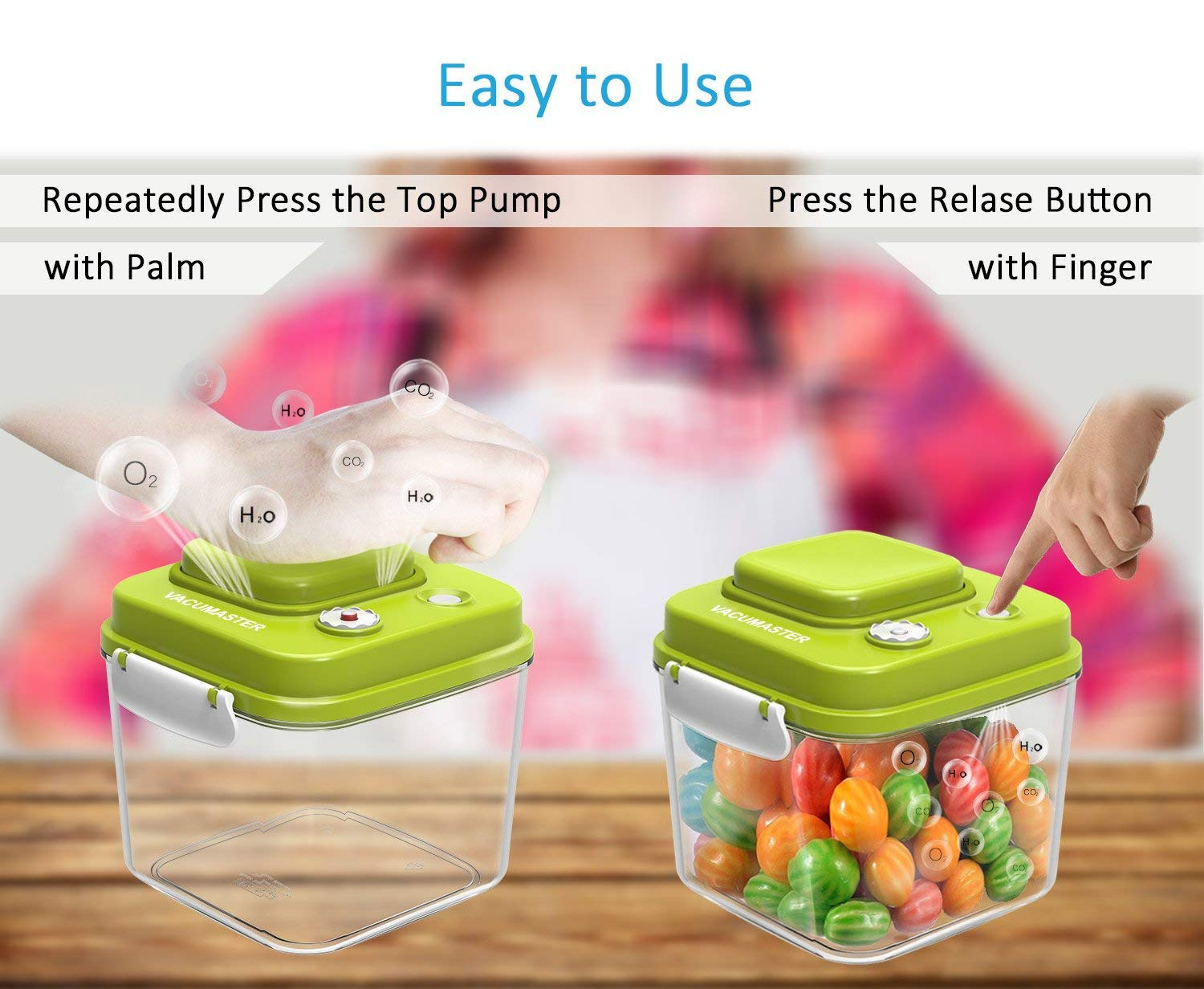 Food Storage Container With Vacuum Sealed Airtight Lid 4