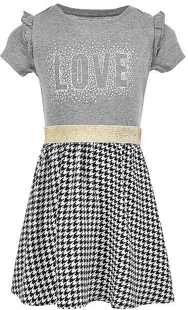 Little Girls Layered Graphic-Print Dress