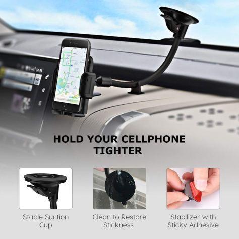 Long Arm Car Phone Holder 1