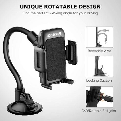 Long Arm Car Phone Holder