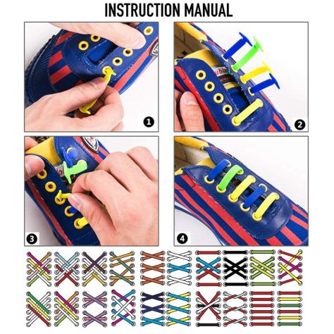No Tie Shoelaces for Kids and Teenagers Outdoor Sports 1