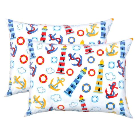 Pillowcase Set Light House - Pack of 2 Toddler Size