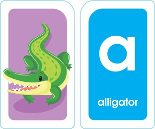 School Zone - Alphabet Flash Cards - Ages 3+, PreK, Letter-Picture Recognition, Word-Picture Recognition, Alphabet, and More Cards 2