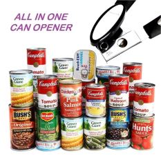 Smooth Edge Stainless Steel Can Opener with Anti-Slip Rubber Plastic Handle 2