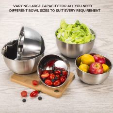 Stainless Steel Mixing Bowls Set with Lids 1