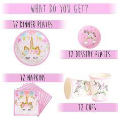 Unicorn Party Supplies Set b