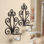 Wall Sconce Candleholders, Set of 2