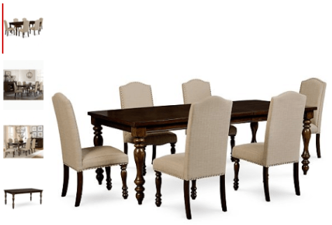 7-Pc. Dining Set (Dining Table & 6 Side Chairs)