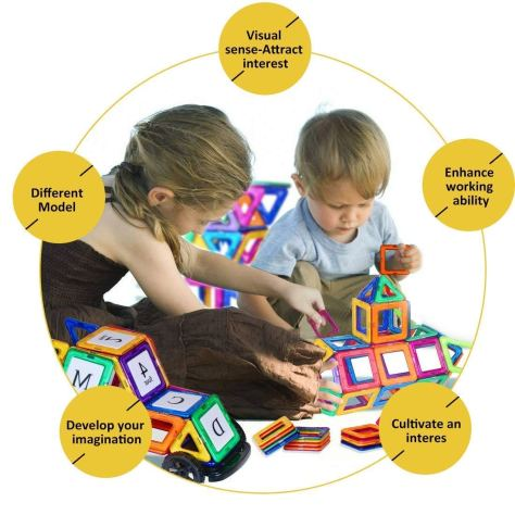 87 Pieces Educational Toys Magnetic Tiles 1