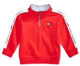 Baby Boys Cotton Half-Zip Sweatshirt 1