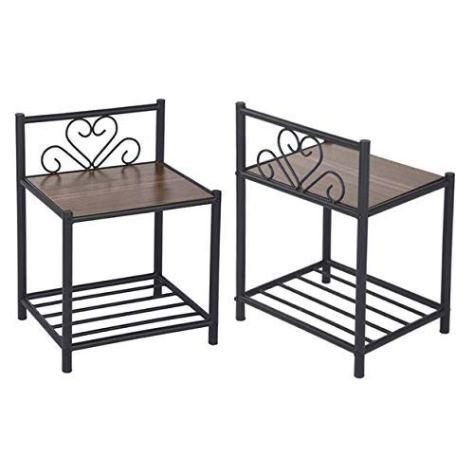 Bedside Table Set of 2 1
