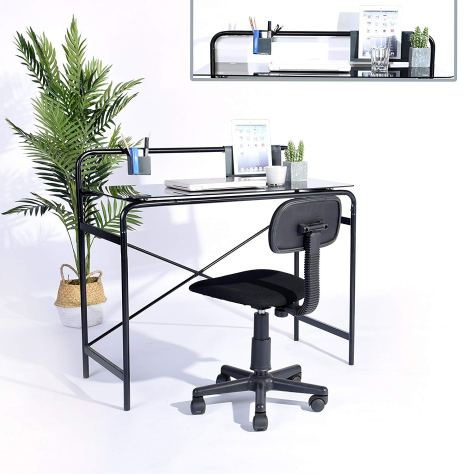 Black Finish Computer Writing Study Desk