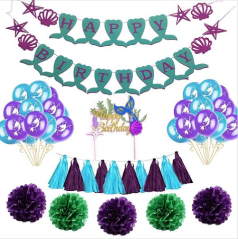 Mermaid Party Supplies And Decorations Kit.png