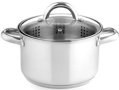 Stainless Steel 4 Qt. Soup Pot with Steamer Insert A