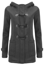 Women Classic Horns Buttons Coat Solid Color Zip Up Front Pockets Hooded Duffel Coat.png 1.png 2