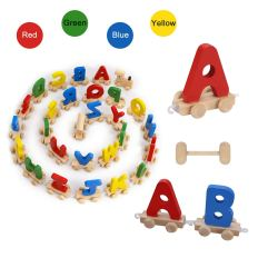 28pcs Letter Train Wooden Alphabet Railway 3