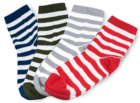 Fashion Stripe Casual Cotton Crew Socks for Men and Women 4 Pairs 1