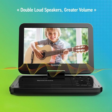 Portable DVD Player 10INCH with 5 Hours Rechargeable Battery 1