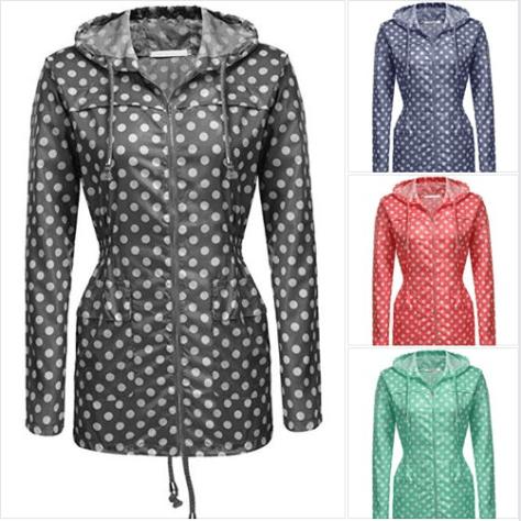 Women's Hooded Lightweigt Waterproof Rainwear