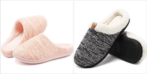 Women's Men's Comfort Exquisite Upper Memory Foam Slippers
