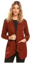Women's Zip up Hoodies Pockets Tunic Sweatshirt Long Hoodie Outerwear Asymmetric Jacket 1