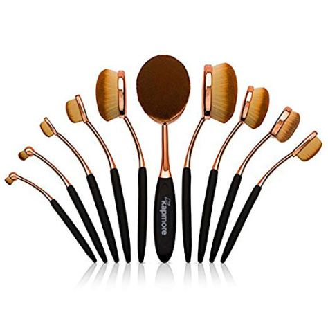 10 PCS Toothbrush Makeup Brushes With Case