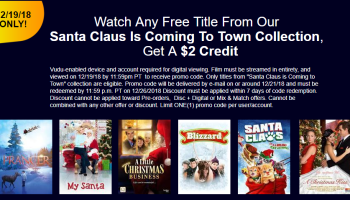 Deals Finders | FREE Elf Digital HD Movie Rental on Vudu
