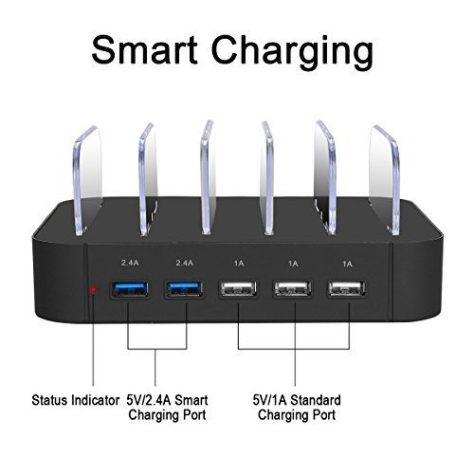 5 Port USB Charging Station 1
