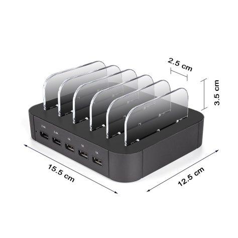 5 Port USB Charging Station