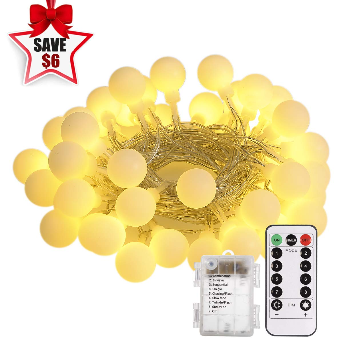 Amazon : 50 LEDs String Lights with Remote Control Just $5.60 W/Code (Reg : $13.99) (As of 12/11/2018 1.37 PM CST)