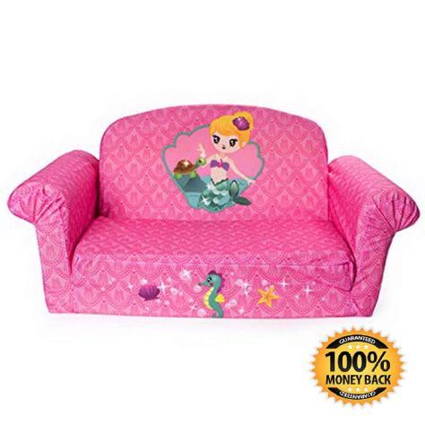 Children's 2 in 1 Mermaid Flip Open Foam Sofa