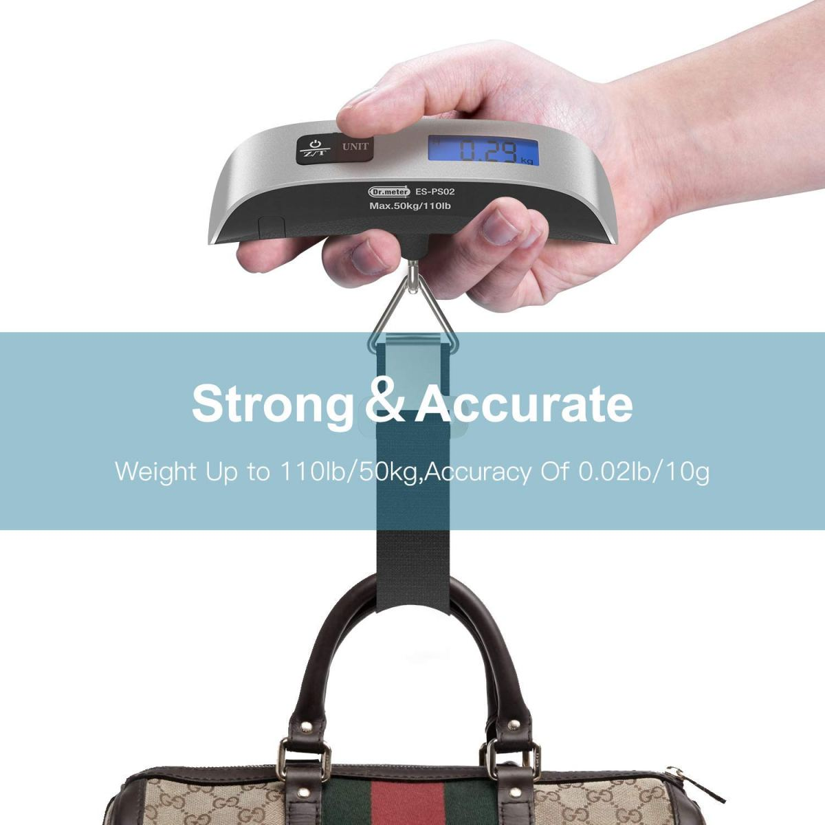 Amazon : LCD Display Luggage Scale Just $3.40 W/Code + Lightening Deal (As of 12/14/2018 1.16 PM CST)