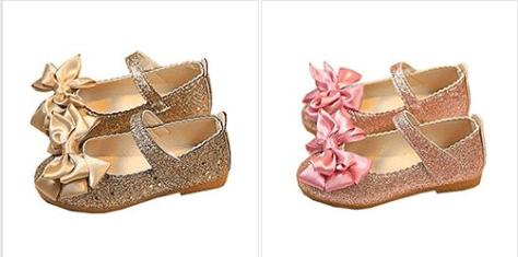 ef06c416e9adf Deals Finders   Amazon : Little Girls Mary Jane Flats Glitter ...