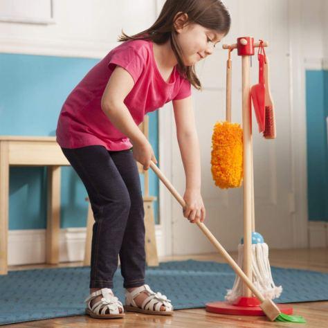 Melissa & Doug, Let's Play House! Dust! Sweep! Mop! Pretend Play Set, 6-piece 2